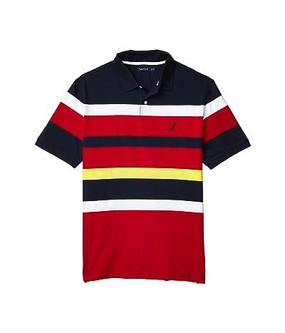 Nautica Big & Tall Big Tall Short Sleeve Yarn-Dye Jersey Polo (Blue) Men