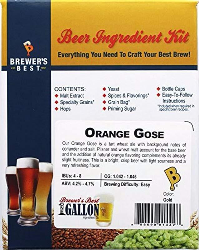 Brewer S Best One Gallon Home Brew Beer Ingredient Kit Orange Gose