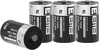 EEMB 塩化チオニルリチウム一次電池 (Li-SOCL2)3.6V 円筒形リチウム電池 ER14250 1.20Ah 1/2AA (単3の半分の長さ)充電不可 メーカー直販 (4個)
