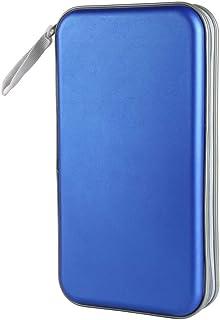 Siveit 80 Capacity Heavy Duty CD/DVD Wallet Binder, Storage, Case, Bag, Holder, Booklet (Blue)
