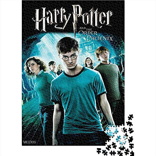 Puzzle adulto 1000 piezas Harry Potter and the Order of the Phoenix movie poster 1000 rompecabezas para adultos Juguetes de bricolaje de entretenimiento en casa para adolescentes 75x50CM(1000pcs)
