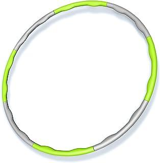 フラフープ 大人用 PolySky サイズ調整可 組み立て式 ダイエット 体操用品 ウエスト くびれ 引き締め 有酸素運動 サイズ調整可 直径約95cm 8本組 選べる8色