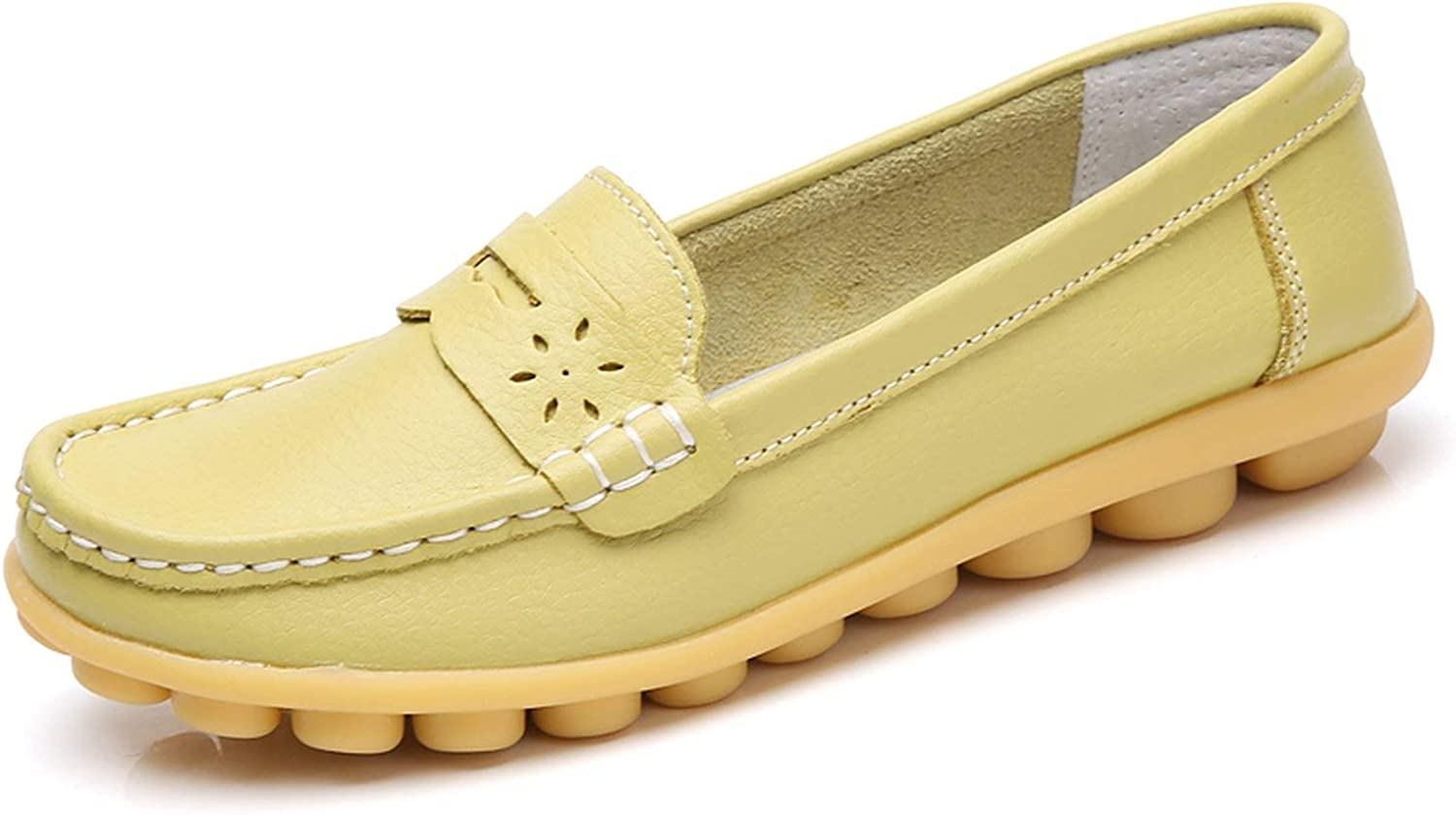 Crazy-shop Women Flats Casual Leather shoes Soft Slip On Flat Loafers