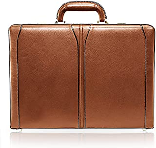 "McKlein, V Series, Turner, Top Grain Cowhide Leather, Leather 4.5"" Expandable Attaché Briefcase, Brown (80484)"