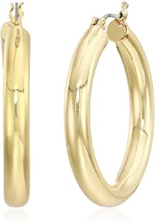 Anne Klein Women's Gold Small Clicktop Hoop Earrings, Gold