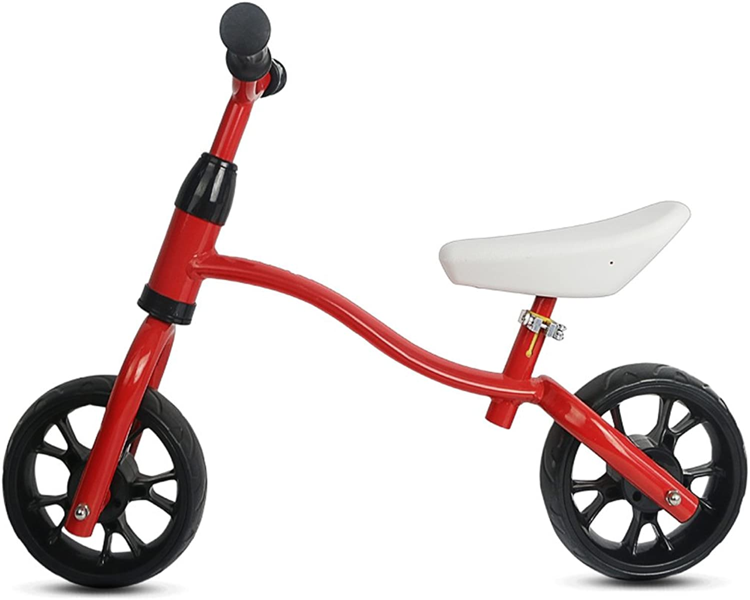 Training Balance Bike Kids Sport Bicycle No Pedal Toddler Walking Buddy Excellent Present For Ages 2-6 Years(High-carbon Steel) ( color   Red )