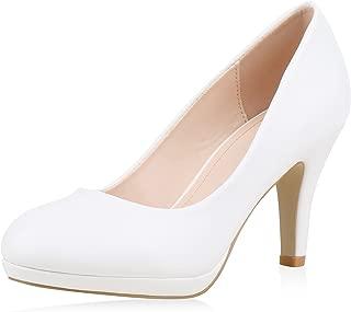 Damen Pumps High Heels mit Pfennigabsatz Lack Hochzeit Abiball
