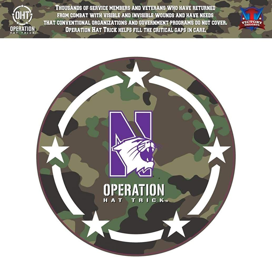 Victory Tailgate Northwestern Wildcats Operation Hat Trick OHT Coin Die Cut Vinyl Decal