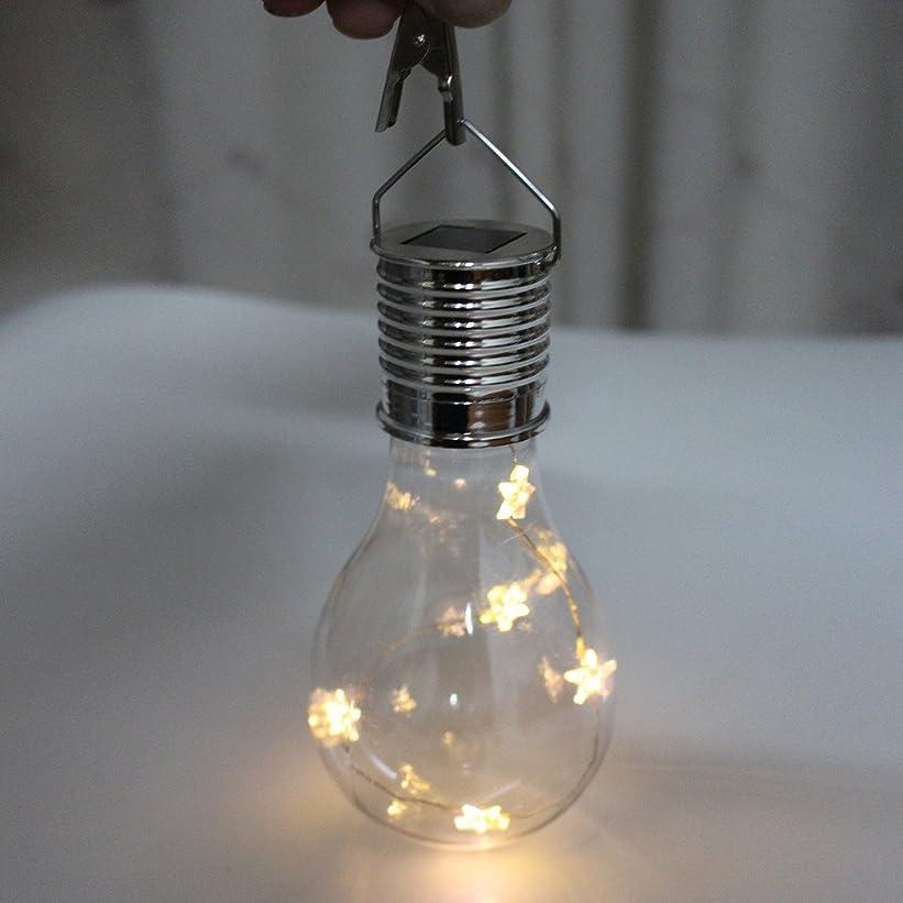 正当化するアジア歯科医Elaco PP素材 温白色 5LED IP44 防水 ソーラー回転 アウトドア ガーデン キャンプ ハンギング 星 LEDライト ランプ 電球 テラス 傘 オーニングに簡単に取り付け