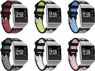 Chainfo コンパチブル Fitbit Ionic 時計バンド スポーツバンド 交換ベルト 柔らかいシリコン素材 耐衝撃 防汗 (6-Pack I)