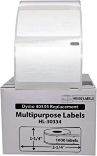 "HOUSELABELS Compatible DYMO 30334 Multipurpose Labels (2-1/4"" x 1-1/4"") Compatible with Rollo, DYMO LW Printers, 50 Rolls ..."