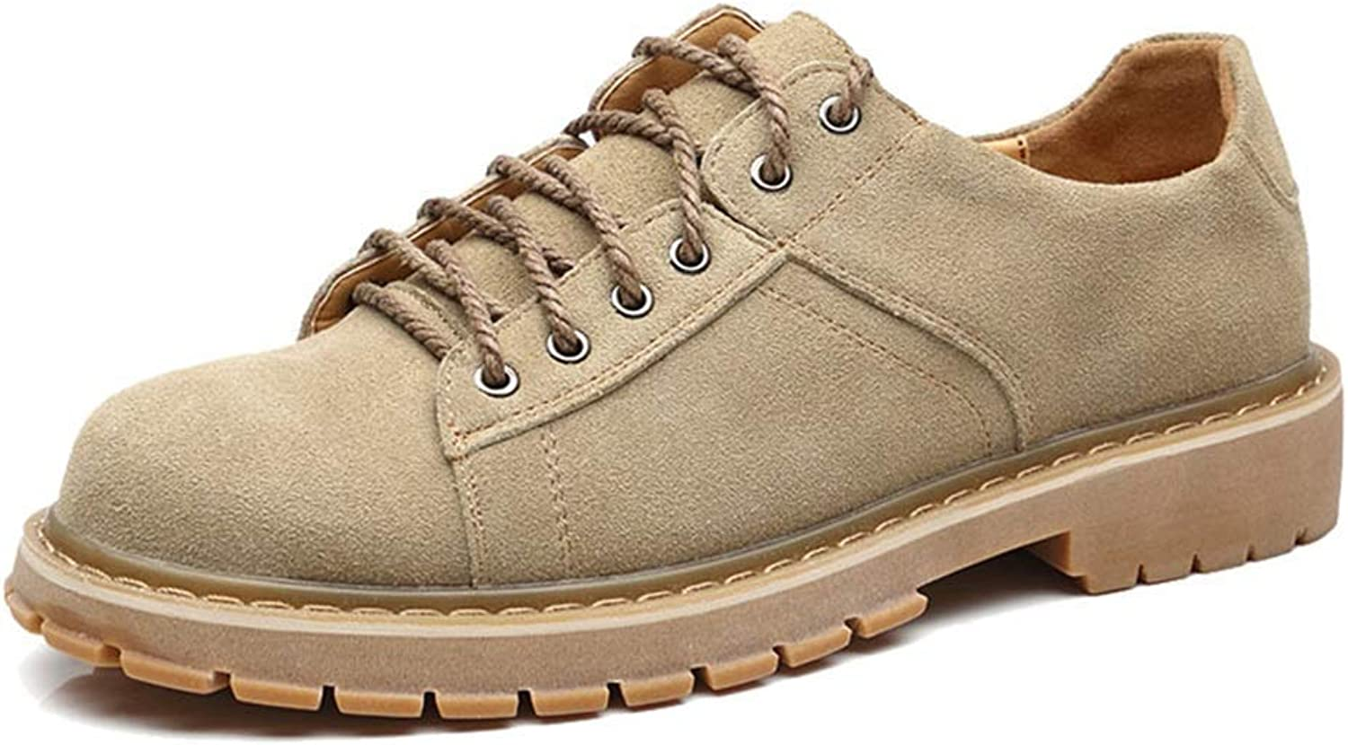 Fuxitoggo Men's Ankle Boots, Casual Classic British Style Comfortable Wear Work Boots (color  Khaki, Size  39 EU) (color   Khaki, Size   41 EU)