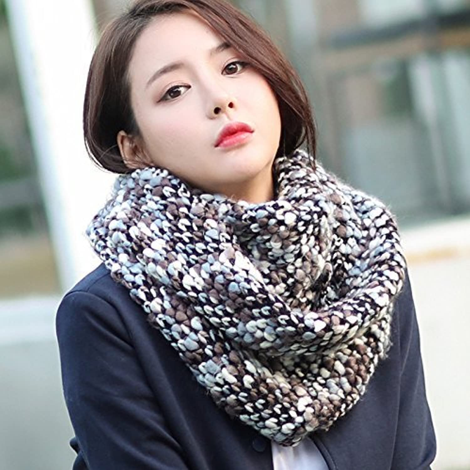SED ScarfKnitting Scarves Women Autumn and Winter Thick Warm Scarf Imitation Cashmere Scarf Female Autumn and Winter Korean Students Knitted Shawl Long