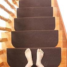 Non Slip Carpet Stair Treads Rug mats,Staircase Cover Reusable Rug Non Slip Carpet Durable Home Decoration Self Adhesive S...
