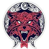 Patch brodé en forme de Loup tribal Coyote, à coudre ou à coller avec fer à repasser