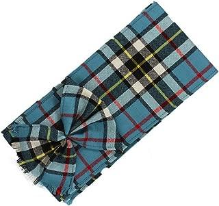 Kilts Wi Hae Scottish 100% Wool Tartan Ladies Mini Sash with Rosette - Thomson Blue