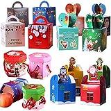 sacs de cadeau de noël fiyuer 40 pcs boîtes à bonbons en carton rouge pour emballage cadeau bonbons