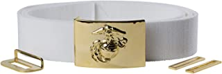 USMC White Dress Belt & Buckle