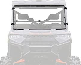 SuperATV Heavy Duty Flip/Fold Down 3-IN-1 Windshield for Polaris Ranger Full Size XP 900 / Crew (2013+) - Clear Scratch Resistant (Hard Coated)
