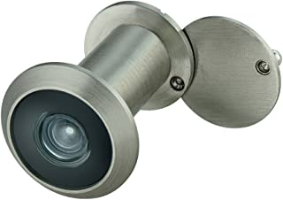 TOGU TG2614YG-SN Brass UL Listed 220-degree Door Viewer with Heavy Duty Privacy Cover for 1-3/8