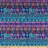 Kaffe Fassett Collective Row Flowers Blue,...