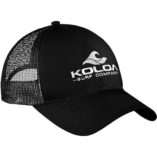 Koloa Surf Wave Logo Old School Curved Bill Mesh Snapback Hats 159cdd277b4a