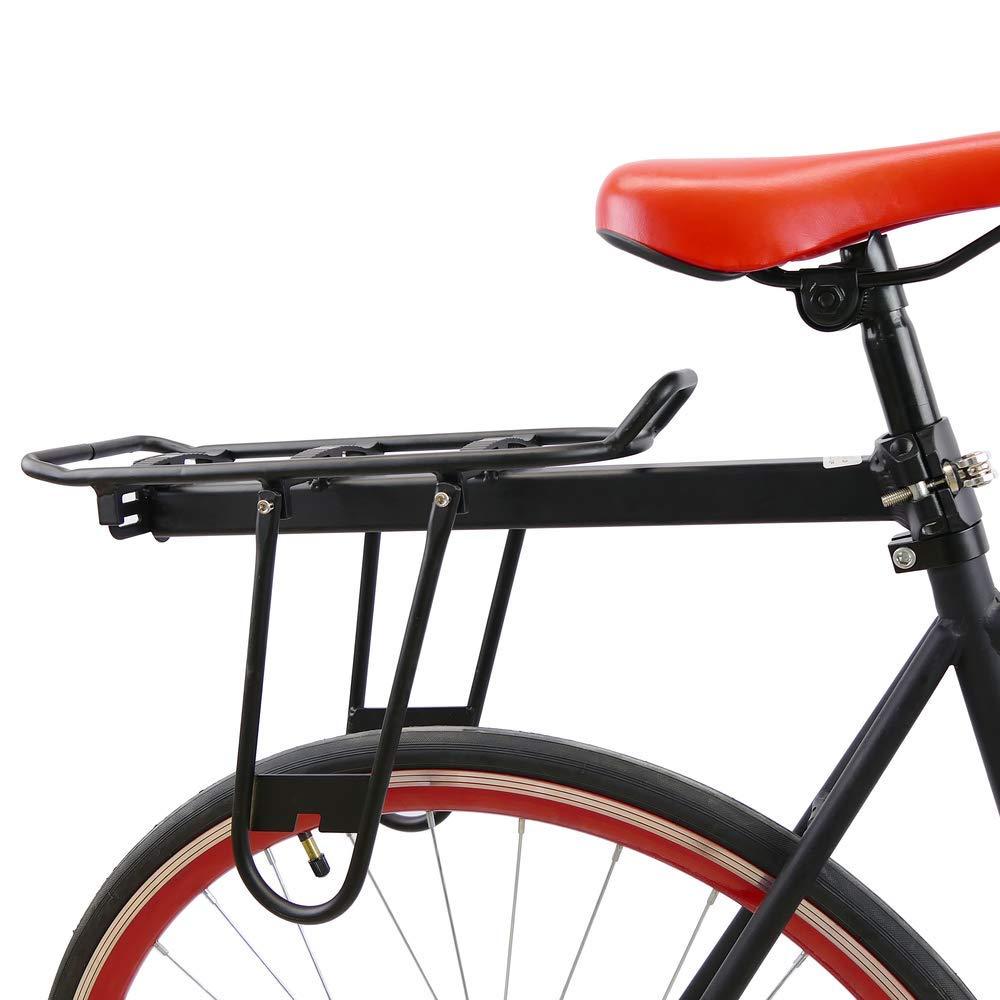 PrimeMatik - Portaequipajes metálico Trasero para Bicicleta con ...