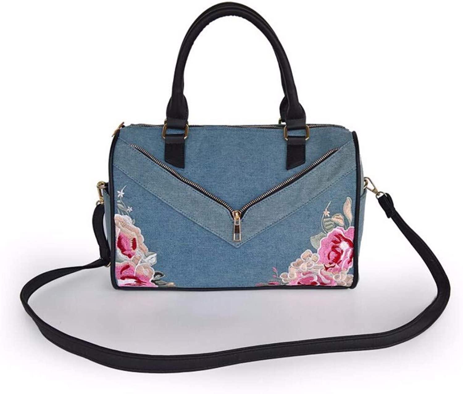 Jean Embroidered Pillow Bag Fashion Lady Bag Inclined Bag Handbag