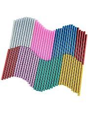 KUUQA 70 stuks glitter Hot Melt lijmpatronen hete lijmsticks lijm sticks universele lijmstiften voor doe-het-zelf kunst handwerk 7 x 100 mm (7 kleuren)