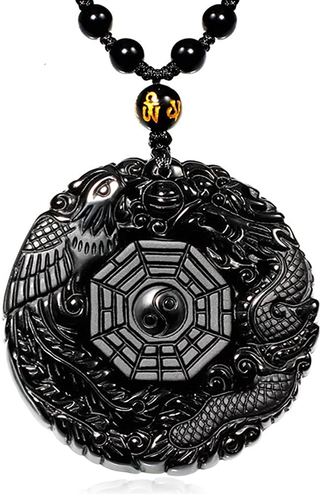 MOHICO Obsidian Pendant Cheap mail order shopping Crystal New York Mall Necklace Neckla