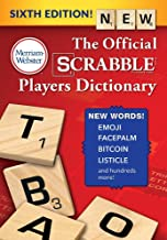The Official SCRABBLE Players Dictionary, Sixth Edition (Jacketed Hardcover) 2018 copyright