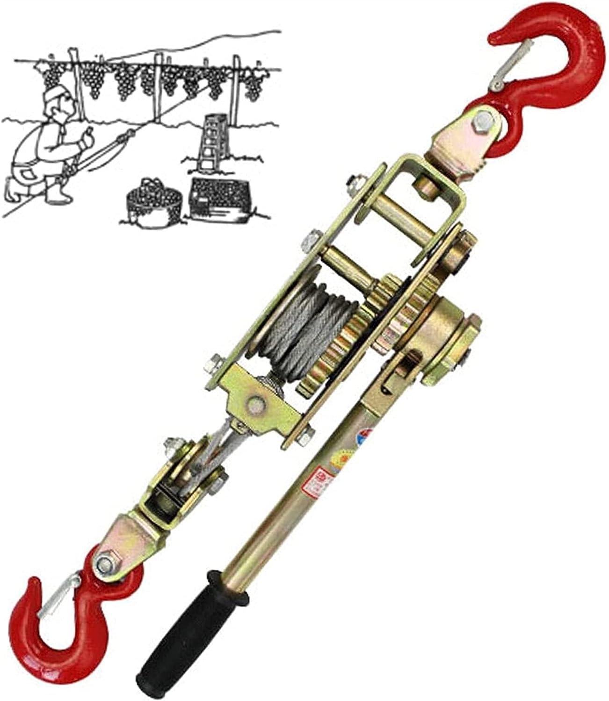 HHORB Extractor Eléctrico, 2/3 / 4T, Gran Capacidad De Tracción, Cuerda De Alambre, Trinquete, Extractor Eléctrico Manual, Herramienta De Apriete, Mini Tensor De Doble Gancho para Caravana