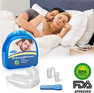 Anti Snoring Mouthpiece, Anti Snoring Devices Snore Solution Sleep Aid Night Bruxism Mouthpiece Snore Reduction Best Snoring Stopper Snoring Reducing Mouth Guard for Men Women