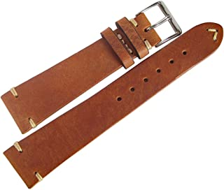 Fluco Hunter 18mm Tobacco Leather Watch Strap