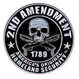 Hot Leathers PPV1008 2nd Amendment Hook Back Patch (Multicolor, 4' Width x 4' Height)