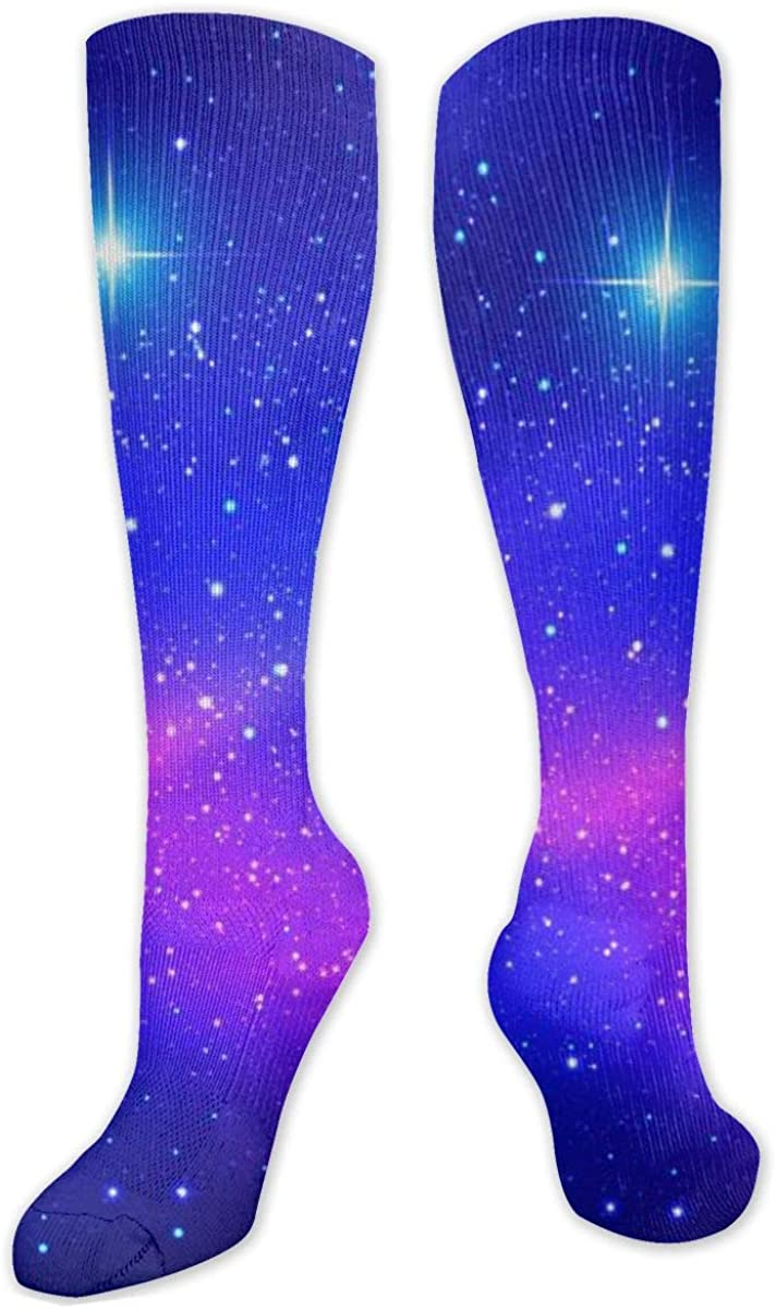 Colorful Nebula In Space Knee High Socks Leg Warmer Dresses Long Boot Stockings For Womens Cosplay Daily Wear