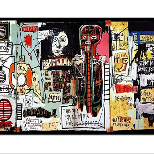 HHLSS Cuadros de la Pared 70x90cm sin Marco Graffiti Jean Michel Basquiat Pintura Art Poster Print Canvas Picture Wall Print Home Decor