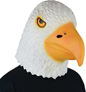 LarpGears Halloween Costume Latex Eagle Mask Funny Animal Mask for Party