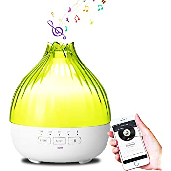 Ultrasonic Cool Mist Humidifier Best Aromatherapy Essential Oil Diffuser Air Humidifier Air Purifier 7 Color Led Changing Light with Remote Control