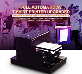 Automatic A3 Size t Shirt Printing Machine Flatbed DTG Printer Dark Color Jeans Printer