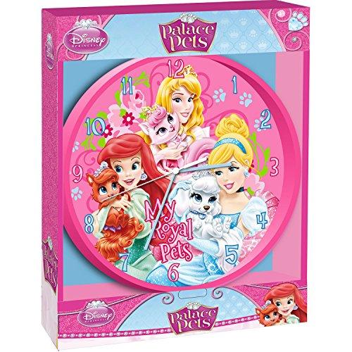 Pendule Horloge Princesse Disney Palace Pets Decoration chambre enfant Fille Dimension 25 cm