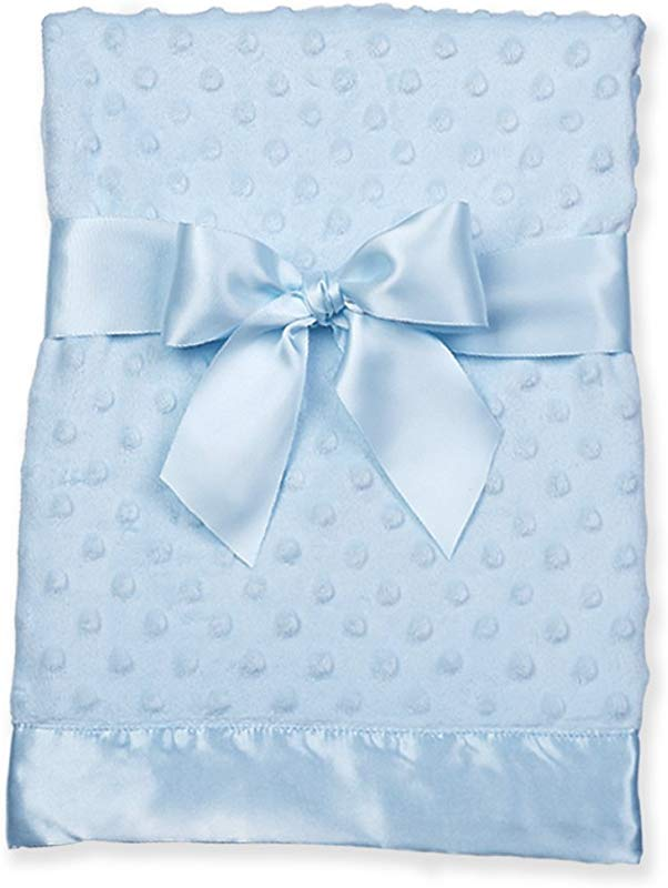 Bearington Baby Small Dottie Security Blankie Blue 16 X 16
