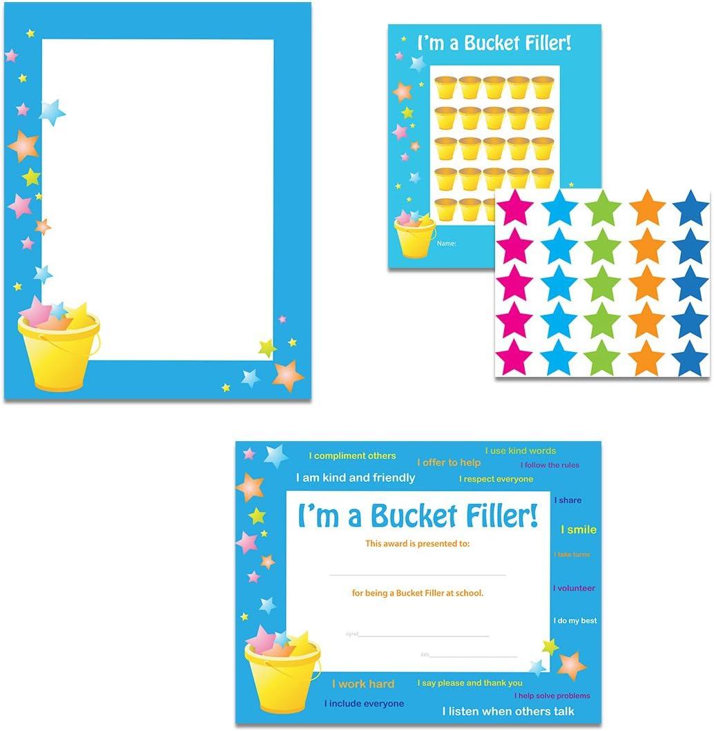 Reservation Bucket Filler Classroom Theme Set Certificates Border - Max 70% OFF Student