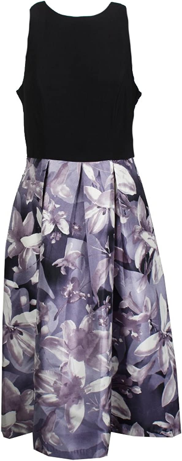 SL Fashions Womens Plus Mixed Media HighLow Cocktail Dress