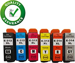312XL 314XL Ink Cartridges Remanufactured for Expression Photo HD XP-15000 Wide-Format Printer
