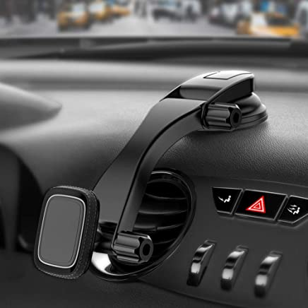 MIRACASE Car Phone Mount Magnetic Phone Holder Dashboard&Windshield Adjustable Vehicle Phone Stand Universal Compatible with iPhone X Xs Max XR 8 Plus 7 6 Samsung Galaxy S10 9 8 Note 9 8 Edge (MM-018)