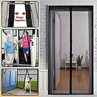 Hylong Magic Curtain Door Mesh Magnetic Fastening Hands Free Insect Screen Net White one size