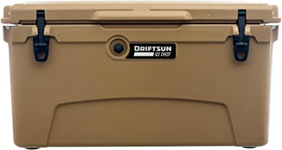 Driftsun 75 Quart Ice Chest, Heavy Duty, High Performance Roto-Molded Commercial Grade Insulated Cooler