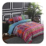 Tokyo Summer King Set Bedding, Bohemian Style Bed Linen Set Comforter Bedding Set Quilt Duvets Cover Set Queen King Bedclothes Pillow Case Home Decor Textile-Purple-EU-Single 135X200cm