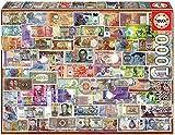 Educa Borras - Genuine Puzzles, Puzzle 1.000 piezas, Billetes del mundo (17659)